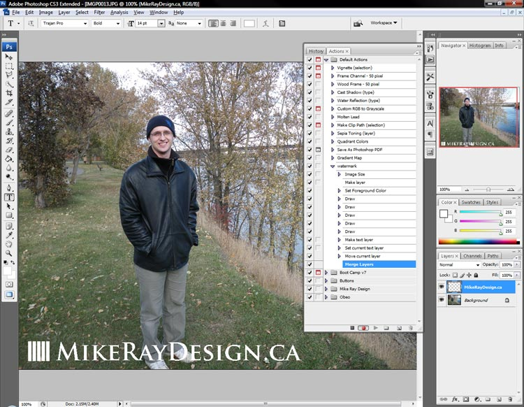 Merging Photoshop layers